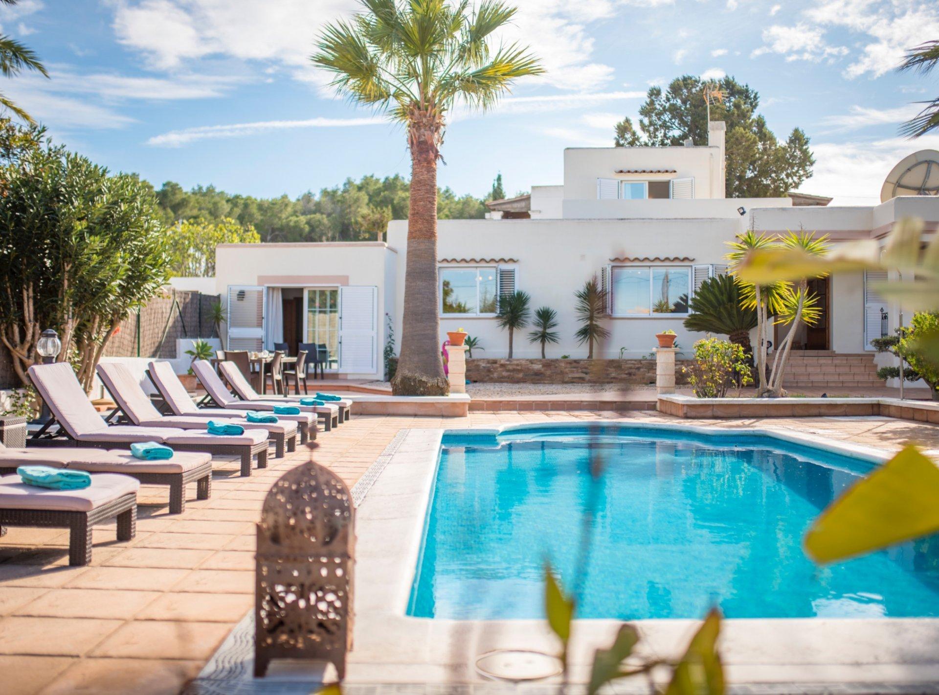 Ibiza, GB Villa Can Petrus, con piscina y wifi gratis